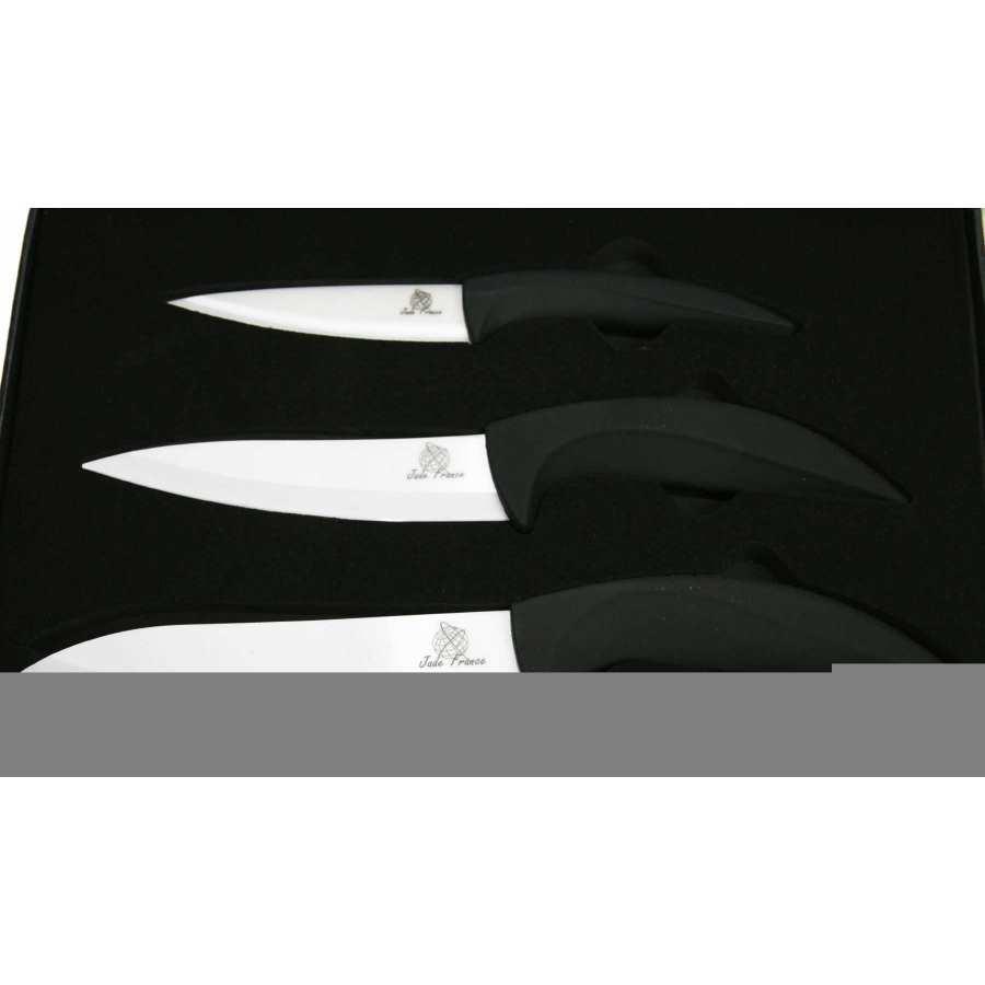 trois couteaux c ramique lame blanche 4 5 et 6. Black Bedroom Furniture Sets. Home Design Ideas
